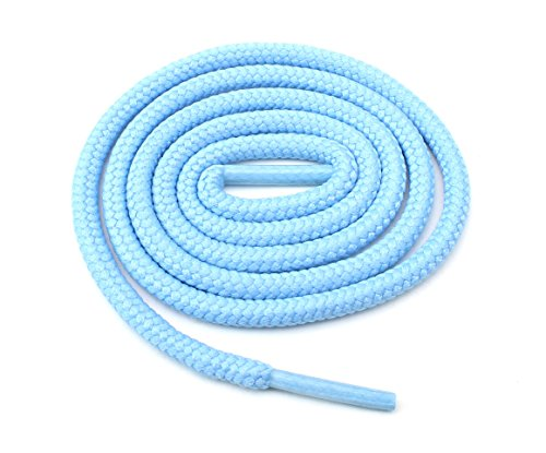 Light Blue Tennis Shoes - Round Shoelaces 3/16 Thick Solid Colors for All Shoe Types Several Lengths (Light Blue-45)