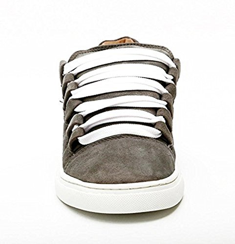 Lacets Gray TEDISH Cuir Marche Orabelle Confortable Loisirs Baskets Femme Plat Steel TD004 Outdoor Mode de Chaussures Gray Steel Dames HHqtrng