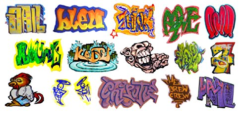 (N Scale Custom Graffiti Decals #17 - Great for Weathering Box Cars, Hoppers, Gondolas and More!)