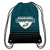 Forever Collectibles FOCO Philadelphia Eagles Backpack Drawstring Team Color Super Bowl 52 Champs