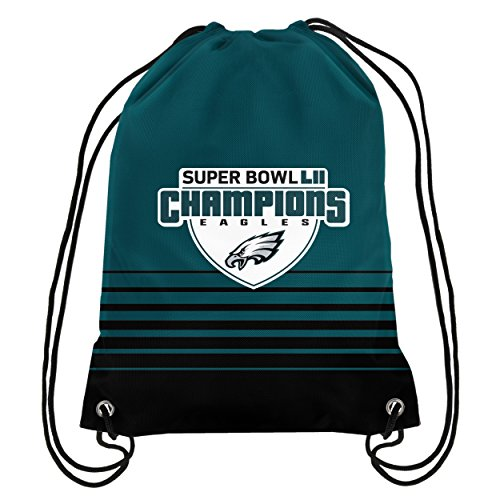 Forever Collectibles FOCO Philadelphia Eagles Backpack Drawstring Team Color Super Bowl 52 Champs by Forever Collectibles