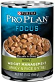 Pro Plan Focus Weight Management Canned Dog Food