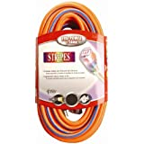 Coleman Cable 02549-3V 12/3 100-Foot Neon Outdoor Extension Cord (Orange/Blue)