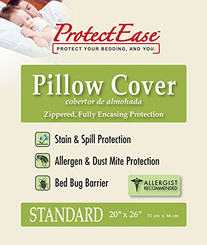 ProtectEase Classic Zippered Pillow Cover