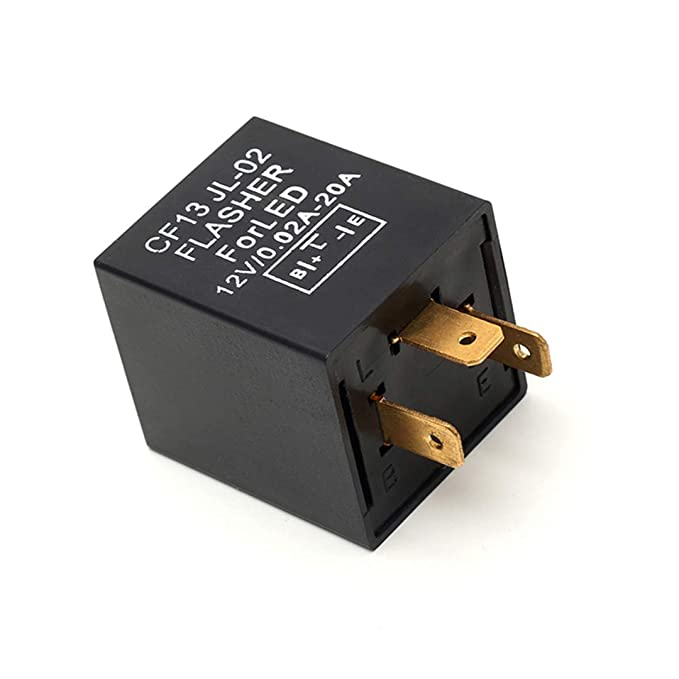 12V Perfect Replacement 3 Pin Compatible LED Electronic Flasher Relay fits  00-18 Motors Turn Signal & Hazard Warning
