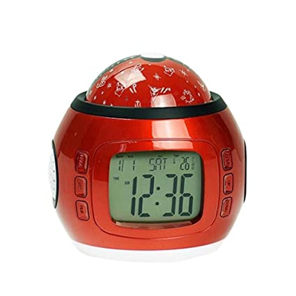 junjunli - Reloj Despertador Luminoso para niños, diseño con Texto en inglés Lazy Multi-