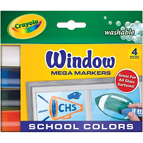 Crayola 58-8166 Washable Window Mega Markers-4/Pkg]()