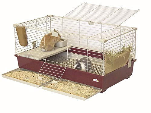 Marchioro Tommy 102 Deluxe Cage for Small Animals, 39.25 inches, Wine Beige
