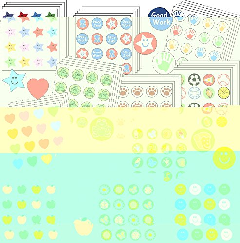 UPC 098497025002, Shapes Etc Assorted Incentive Stickers Bargain Bag, 3/8 in, Assorted Color, Pack of 3456