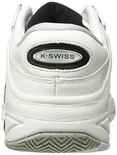 K-Swiss Performance Defier Rs, Scarpe da Tennis Uomo Bianco (White/Black 103m)