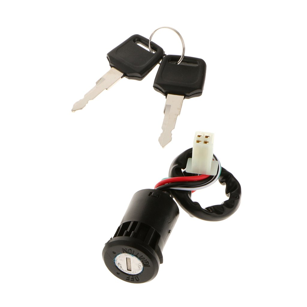 gazechimp ATV 4 Wire Ignition Key Barrel Switch 50cc 110cc 125cc 250cc Quad Dirt Bike