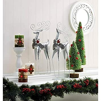 Christmas Collection 10018689 So Serious Reindeer Statue, Multicolor