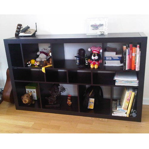 Amazon.com: Ikea Expedit Bookcase / Tv Stand Multi Use Black Brown: Kitchen  U0026 Dining