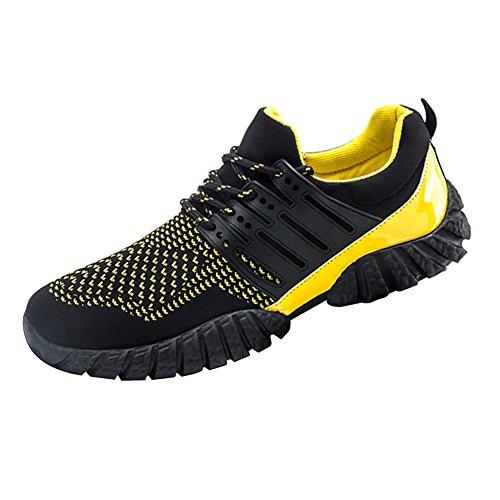 Kivors® atmungsaktiv und bequem tragen rutschfeste Sport Fitness Laufschuhe Gummisohle Schuhe vamp hohlen laufenden Modeschuhe gelb