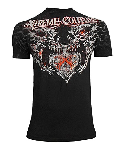 Xtreme Couture by Affliction Splatter House Tee Shirt Black MMA 3X-Large