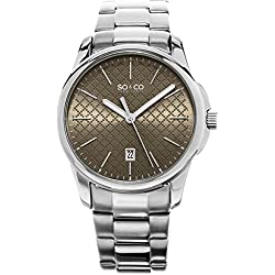 SO&CO New York Men's HN5095.2 Madison Specialty Quartz Stainless Steel Silver-Tone Bracelet Watch
