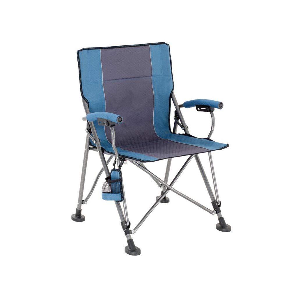 QZ HOME Stühle, Klappstuhl Sonnenliege Liegestuhl Angelstuhl Tragbar Einfach Haushalt Im Freien (Farbe : Blau)