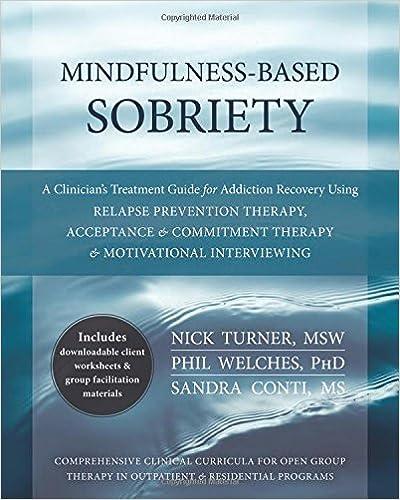 Amazon.com: Mindfulness-Based Sobriety: A Clinician's Treatment ...