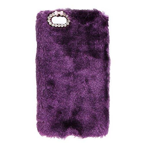Phone Taschen & Schalen Faux Pelz PC Schutzhülle für iPhone 6 Plus & 6s Plus ( Color : Purple )