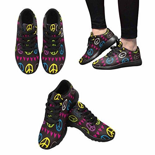 Scarpa Da Jogging Leggera Da Donna Running Running Leggera Easy Go Walking Comfort Sportivo Scarpe Da Ginnastica Segno Di Pace E Cuori Multi 1