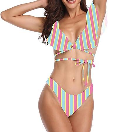HQSF Bikini para Mujer 2019 Traje De Bano De Dos Piezas Sexy Push ...