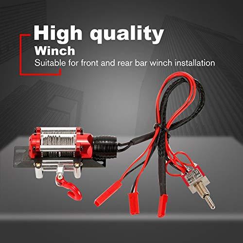 Ningbao Winch Simulaci/ón El/éctrica Metal Autom/ático Metal Acero Sistema de cabrestante Accesorios para 1//10 RC Crawler D90 Axial SCX10