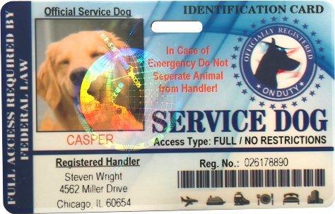 Service Dog Horizontal Badge ID