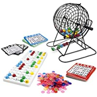 Royal Bingo suministros Jumbo juego de Bingo con 100tarjetas de Bingo, 500chips de Bingo y tambor