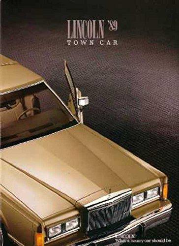 1989 Lincoln Town Car Sales Brochure Literature Book Piece Options Specs