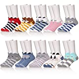 KAKAYAO Children's Boys Cartoon Novelty Socks Soft Cotton Casual Cute Animal Crew Socks 10 Pairs (Boy 1, XL(8-12 Year))