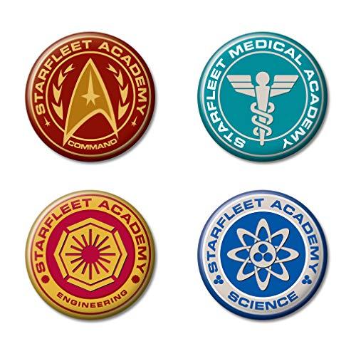 Ata-Boy Star Trek Starfleet Academy Insignias Set of 4 1.25