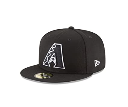7abdca26821 New Era 59Fifty Hat MLB Basic Arizona Diamondbacks Black White Fitted  Baseball Cap (6