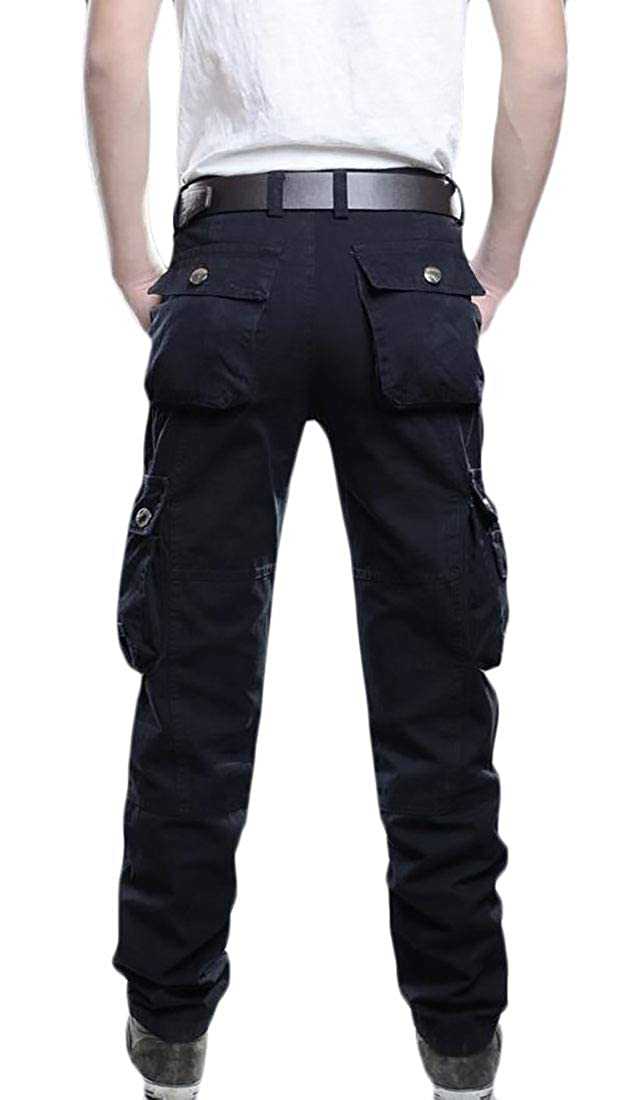 UNINUKOO Unko Men Cotton Multi-Pockets Work Pants Tactical Army Military Cargo Pants