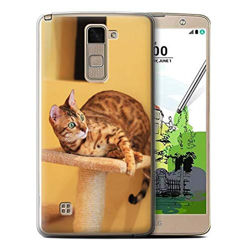 eSwish Gel TPU Phone Case/Cover for LG Stylo 2 Plus/MS550/K535 / Bengal Design/Popular Cat/Feline Breeds Collection