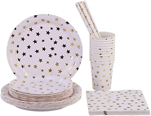 METALLIC ROSE GOLD PARTYWARE TABLEWARE SUPPLIES GARDEN BBQ PARTY CELEBRATIONS