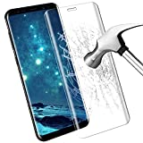 Samsung Galaxy S8 Screen Protector, Samione Galaxy S8 Tempered Glass Screen Protector Anti-Bubble,Anti-Scratch,Ultra Thin HD Display Protection Film for Samsung Galaxy S8 - Transparent (1 Pack)