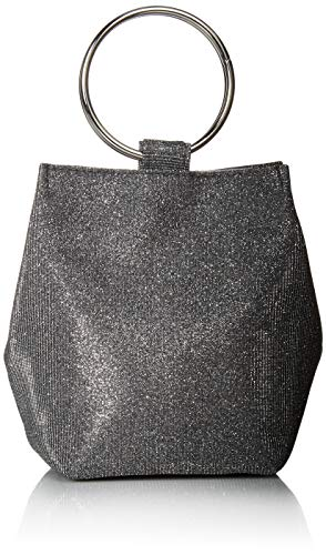 Pouch Evening (Jessica McClintock Gwen Sparkle & Shine Ring Pouch Clutch, Pewter)
