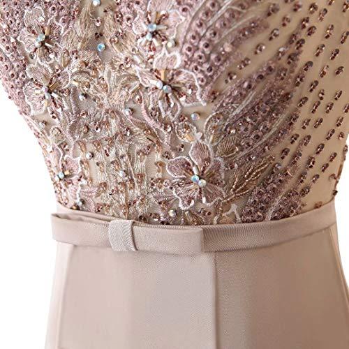 Lange King's Frauen Spitze Abendkleid Meerjungfrau 7 Brautkleid Formale Pailletten Love Stickerei xtrf7t