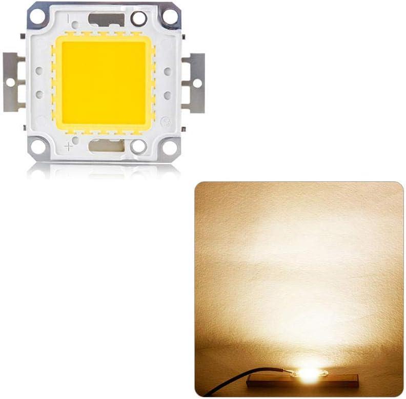 Chips LED COB 10W 20W 30W 50W 100W Chip de lámpara DC 12V 36V DIY Foco reflector LED Luces Iluminación blanca / blanca cálida-Blanco cálido_50W