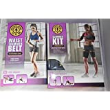 Gold's Gym Waist Trimmer Belt Plus Bonus Slimmer Kit (4 PIece) Thigh and Arm
