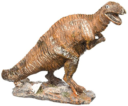 Penn-Plax Tyrannosaurus Dinosaur Aquarium Resin Ornament, 6.25 by 2.25 by 4.5-Inch