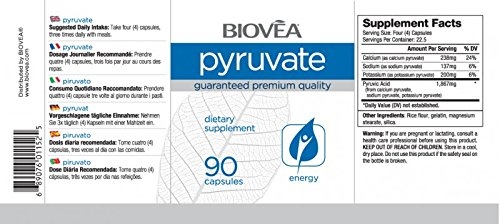 Amazon.com: pyruvate 90 °Cápsulas: Health & Personal Care
