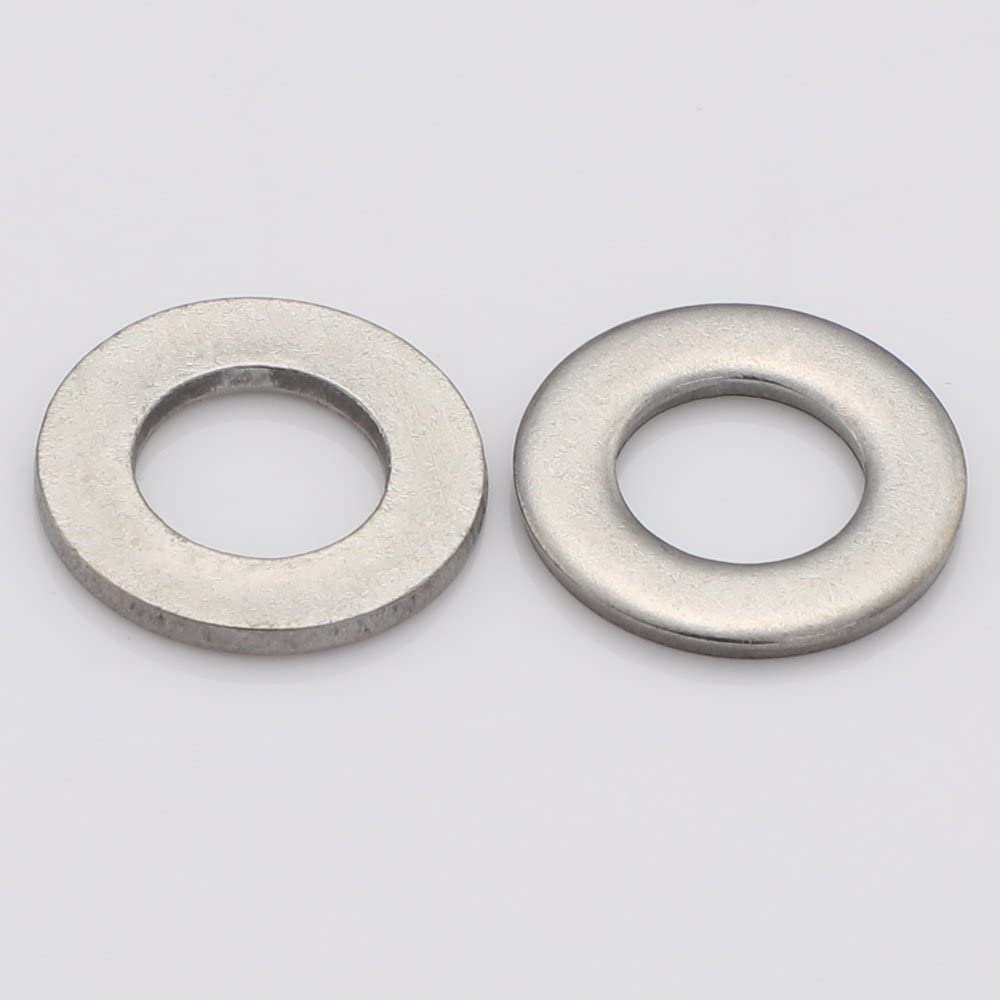 by MewuDecor Stainless Steel 18-8 1//4 Flat Washer 5//8 Outside Diameter 100 PCS 304