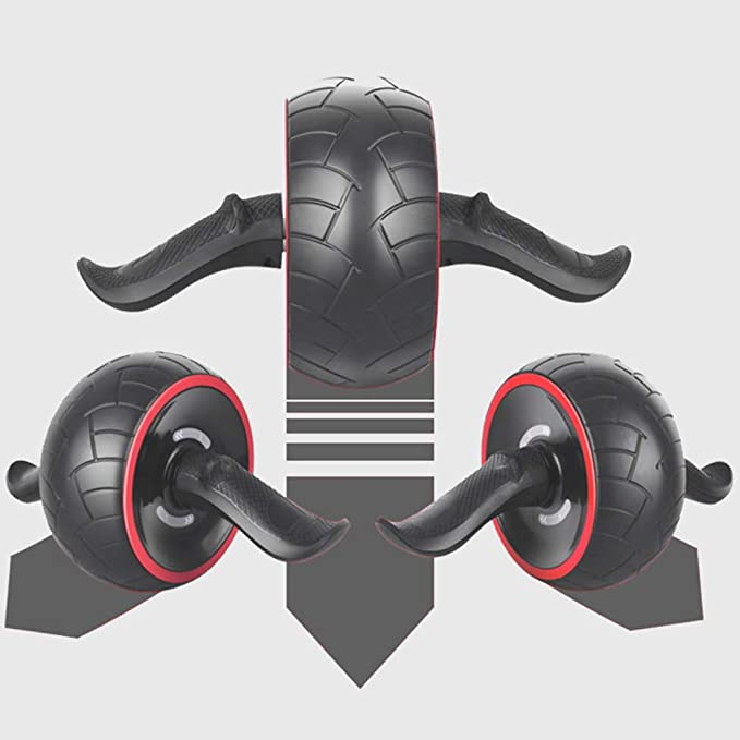 AB Wheel Pro Appareil Roue A Abdo Abdominale Musculation pour Exercice Fitness Exercices 6 Pack Abs 05 Noir WanYangg Roller Abdominaux Roulette Abdos AB Roller