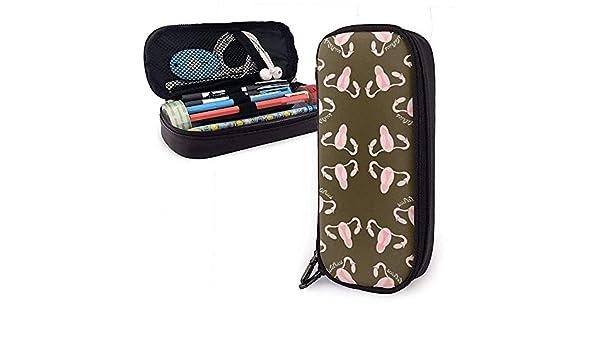 Estuche de lápices Enfermera obstétrica Cervix Bolsa de cuero de PU Bolsas de almacenamiento Bolso de lápiz portátil Carteras con cremallera: Amazon.es: Oficina y papelería