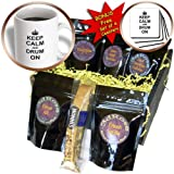 InspirationzStore Typography - Keep Calm and Drum on - carry on drumming - gift for drummer percussionist musicians fun funny humor - Coffee Gift Baskets - Coffee Gift Basket (cgb_157715_1)