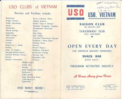 Map of The Cholon District of Saigon, Vietnam (USO Information