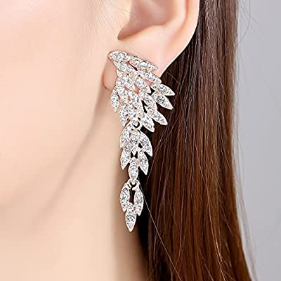 Vintage Style Wedding Crystal Rhinestone Cluster Chandelier Hollow Dangle Earrings