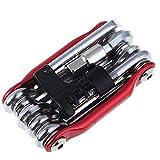 Sonolife - Herramienta Multiuso 12 en 1 Bicicleta - Funciona como Desarmador, Llave Inglesa, Hexagonal Más!