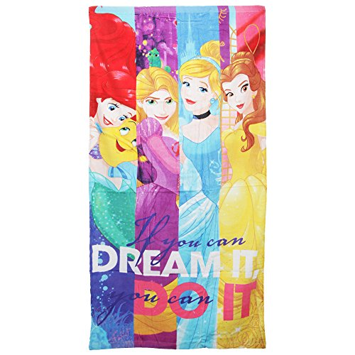 Disney Princess Childrens/Girls If You Can Dream It You Can Do It Beach Towel (55in x 28in) (Multicolored)